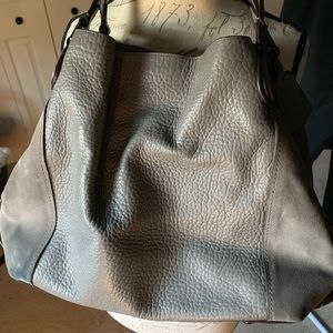 Beautiful suede/leather combo shoulder bag